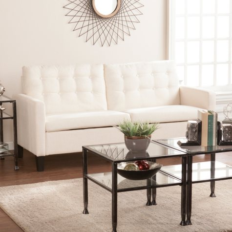 Breana Mid-Century Modern Sofa, Oatmeal