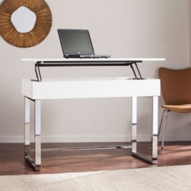 Ikamu Adjustable Sit-to-Stand Desk, White