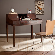 Hamili Sliding-Door Desk, Espresso
