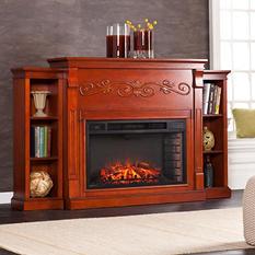 Hamilton Electric Fireplace, Classic Mahogany