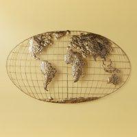 Deals on SEI Iron World Map Wall Art SC1152R