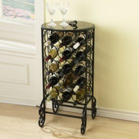 Glass Top Wine Table