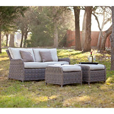 Dorchester Outdoor Sofa/Ottoman 3-Piece Set