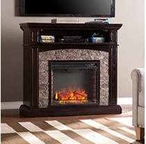 Hastings Stone Electric Media Fireplace