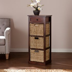 Barrett Storage Shelf with 3 Seagrass Baskets
