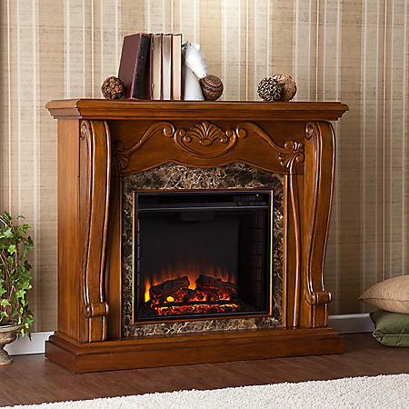 Marlena Electric Fireplace - Walnut