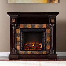 Mirage II Espresso Convertible Electric Fireplace