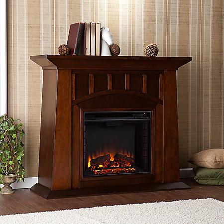 Tallow Espresso Electric Fireplace