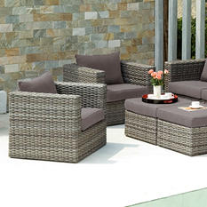 Harlow Outdoor Deep Seating 4-Piece Set