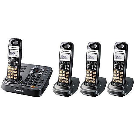 Panasonic DECT 6.0 Phone System w/ 4 Handsets