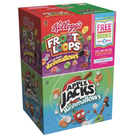 Kellogs Applejacks and Fruit Loops with Marshmallow Pack (15 oz. bags)