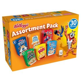 Kellogg's Jumbo Assortment Pack (32.7 oz., 30 pk.)
