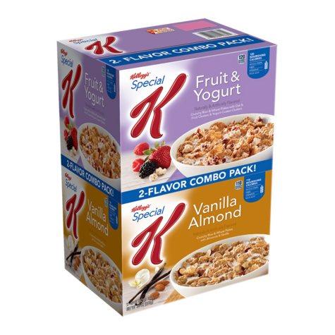 Special K Variety Pack Cereal, Vanilla Almond, Fruit & Yogurt (32.9 oz., 2 bags)