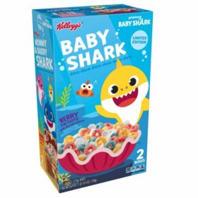Kellogg's Pinkfong Baby Shark Limited Edition Breakfast Cereal, Berry Fin-Tastic with Marshmallows (26.4 oz., 2 pk.)