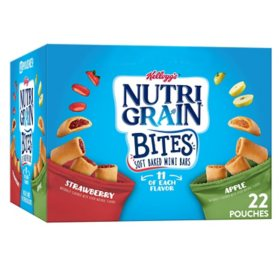 Kellogg's Nutri-Grain Kids Mini Breakfast Bars, Variety Pack (28.6 oz., 22 ct.)