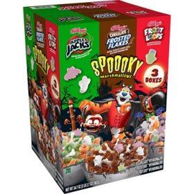 Kellogg's Halloween Edition Breakfast Cereal, Variety Pack (34.7 oz.)