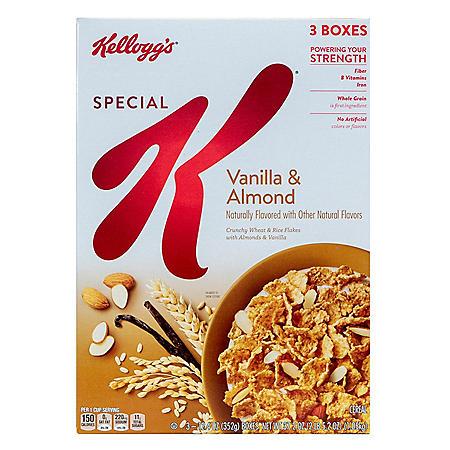 Kellogg's Special K Breakfast Cereal, Vanilla Almond (3 pk./37.20 oz.)
