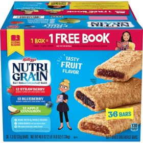Kellogg's Nutri-Grain Bars Variety Pack (1.3 oz. bar, 36 ct.)