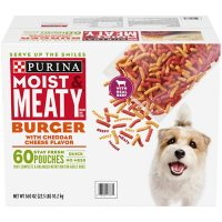 Purina Moist & Meaty Dog Food, Burger with Cheddar Cheese Flavor (6 oz., 60 ct.)