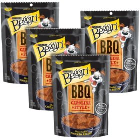 Purina Beggin' Dog Treats, BBQ Carolina Style Chicken (17 oz., 4 pk.)