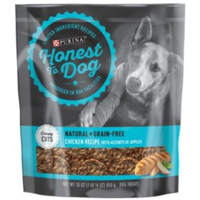 Honest to Dog Natural + Grain-Free Crispy Cuts or Tasty Tenders Dog Treats (30 oz.) Choose Your Flavor
