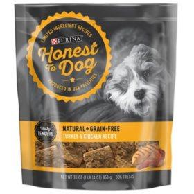 Honest to Dog Natural + Grain-Free Crispy Cuts or Tasty Tenders Dog Treats (30 oz.) Choose Your Flavor