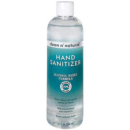Clean n' Natural Hand Sanitizer (12 oz.)