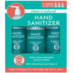 Clean n' Natural Hand Sanitizer (12 fl. oz., 3 pk.)