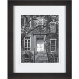 """Gallery Solutions 11"""" x 14"""" Black Frame with White Mat"""