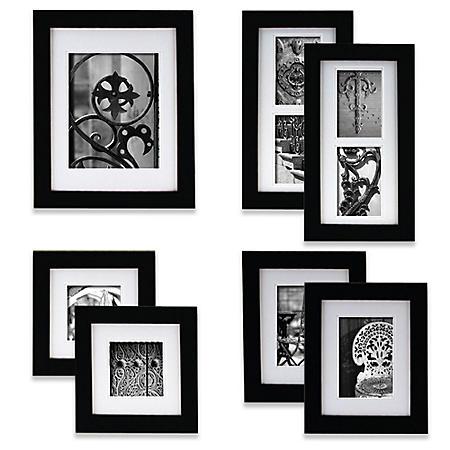 Gallery Perfect 7-Piece Portrait Frame Set, Black