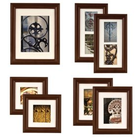 Gallery Perfect 7-Piece Portrait Frame Set, Walnut