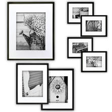 Gallery Perfect 7-Piece Frame Set, Black
