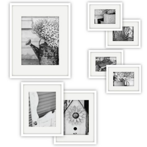 Gallery Perfect 7-Piece Frame Set, White
