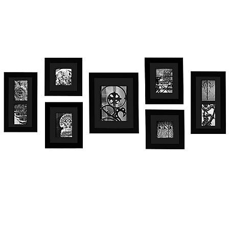 7-Piece Photo Frame Kit, Black