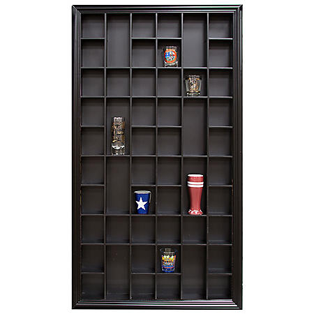 17 x 32 Decorative Shot Glass Case, Black
