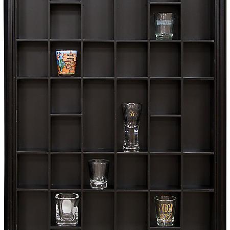 17 x 21 Decorative Shot Glass Case, Black