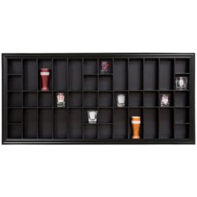 35 x 16 Decorative Shot Glass Case, Black