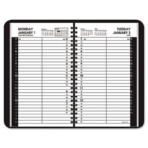 AT-A-GLANCE - Daily Appointment Book with 15-Minute Appointments, 4 7/8 x 8, White -  2016