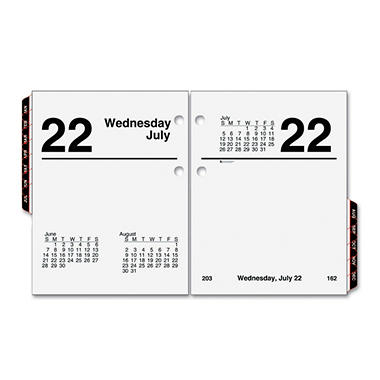AT-A-GLANCE Compact Desk Calendar Refill, 3 x 3 3/4, White, 2017