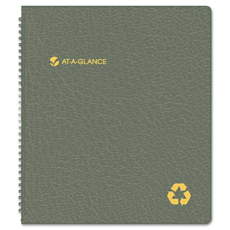 AT-A-GLANCE Recycled Monthly Planner, 9 x 11, Black, January 2017 - January 2018