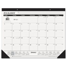 AT-A-GLANCE Ruled Desk Pad, 22 x 17, 2020