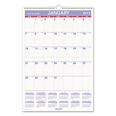 AT-A-GLANCE® Erasable Wall Calendar, 15 1/2 x 22 3/4, White, 2018