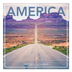 "AT-A-GLANCE Landmark America the Beautiful Wall Calendar, 12"" x 12"", 2018"