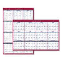 At-A-Glance Erasable Vertical/Horizontal Wall Planner, 32 x 48, Blue/Red, 2022
