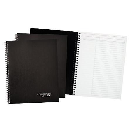 Cambridge Limited - Action-Planner Business Notebook Plus Pack, 7 1/4 x 9 1/2, Black, 80 Sheet -  3/PK