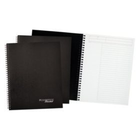 Cambridge Limited - Action-Planner Business Notebook Plus Pack, 7 1/4 x 9 1/2, Black, 80 Sheet -  3/PK