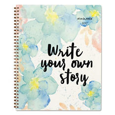 """AT-A-GLANCE B Positive Professional Weekly/Monthly Planner, Write Your Own Story, 9-1/4"""" x 11-3/8"""", 2017"""