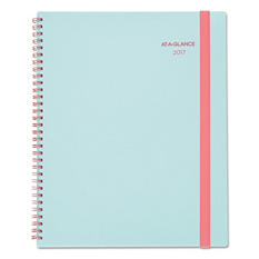 """AT-A-GLANCE Color Play Weekly/Monthly Planner, 4-7/8"""" x 8"""", Teal/Red, 2017"""