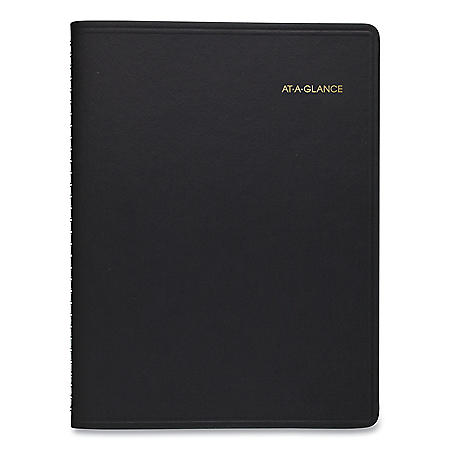 AT-A-GLANCE Weekly Appointment Book, 11 x 8.25, Black, 2021-2022
