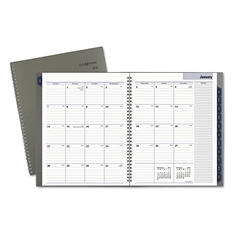 "AT-A-GLANCE DayMinder® Traditional Monthly Planner, 8 1/2"" x 11"", Gray, 2018"